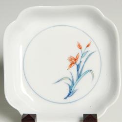 正角木瓜皿―五種絵変わり