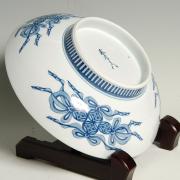 尺高台皿―芙蓉小菊